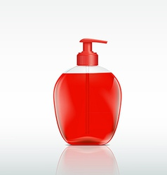 plastic bottle with a dispenser for liquid soap vector image vector image