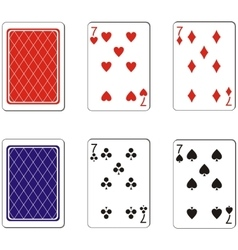 Playing card set 09 vector image vector image