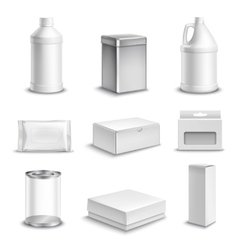 Product Package Realistic Icons Set vector image vector image