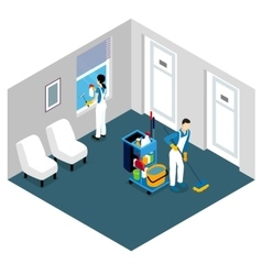 Professional Cleaning Isometric Design vector image vector image