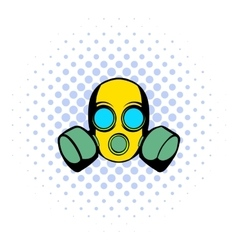 Respirator icon comics style vector image vector image