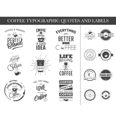 Set of typographic quotes and labels vector image vector image