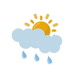 Sun cloud and rain design vector