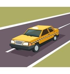 Taxi auto car design vector image