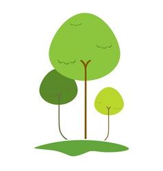 vector tree vector image vector image