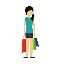 woman cartoon icon vector image vector image