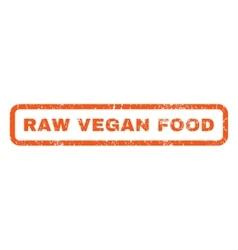 Raw vegan food rubber stamp vector