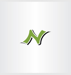 Letter n logotype symbol element sign vector