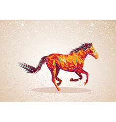 Colorful abstract horse shape vector