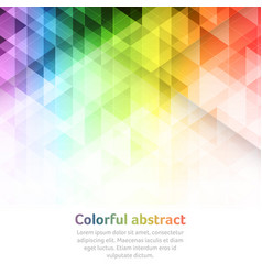 Colorful abstract background with triangular vector