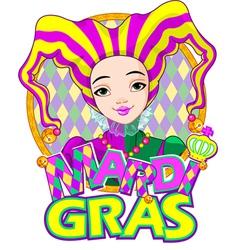 Mardi gras harlequin design vector