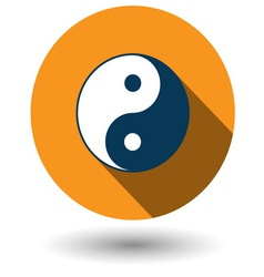Ying yang icon in flat style vector
