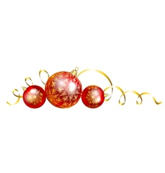 Christmas baubles vector image