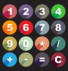 Calculator keys vector