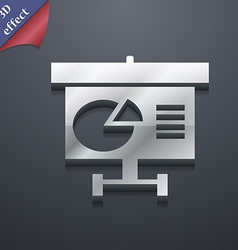 Graph icon symbol 3d style trendy modern design vector