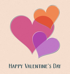 Happy valentine day retro card vector
