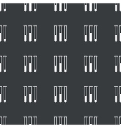 Straight black test-tubes pattern vector