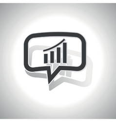 Curved bar graphic message icon vector