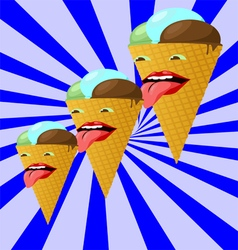 Ice creams222 vector