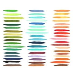 Color stripes brushes drawn with japan markers vector