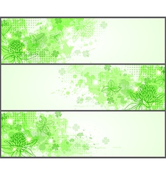 Green grunge horizontal banners vector image
