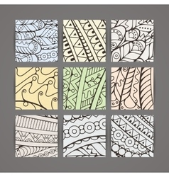 Set of four pastel intricate patterns vector image
