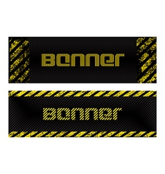 Two banner with vertical and horizontal scratched vector