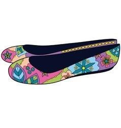 Ballet shoes colorful vector