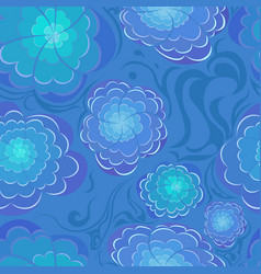 abstract blu flowers vector image