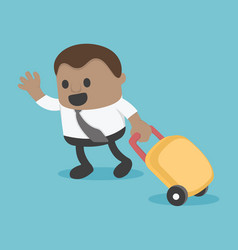 african businessman prepare a bag for travel eps10 vector image
