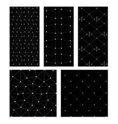 black cand white set of abstrct seamless patterns vector image