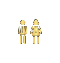 Brother and sister computer symbol vector