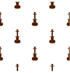 Brown arabic hookah pattern seamless vector