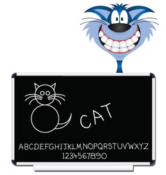 cat blackboard vector image