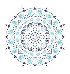 Circular floral ornament vector image vector image
