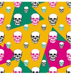 Colorful skulls print skull seamless pattern hand vector