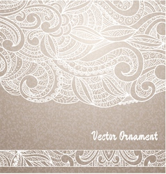 Ethnic vintage ornament background vector