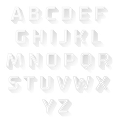 font design set vector image