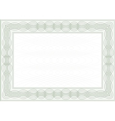 Frame for certificate vector
