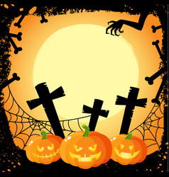 Halloween banner poster postcard design vector
