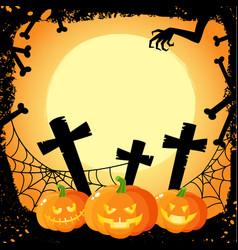 halloween banner poster postcard design vector image
