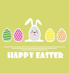 happy easter greeting card easter eggs and vector image vector image