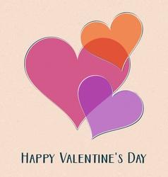 Happy valentine day retro card vector