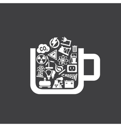 Industry a cup vector