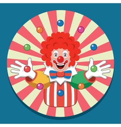Juggling circus clown vector