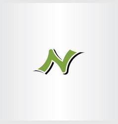 Letter n logotype symbol element sign vector