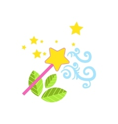 Magic wand drawing vector