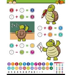 Math game cartoon vector