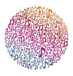 Music concept - musical notes vector