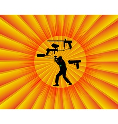 paintball competition vector image vector image